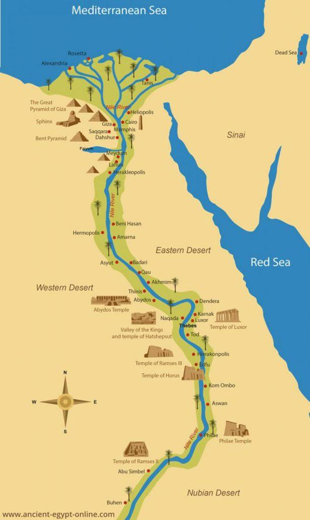 mappa antico egitto