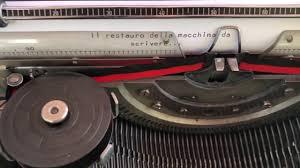 restauratore macchina da scrivere
