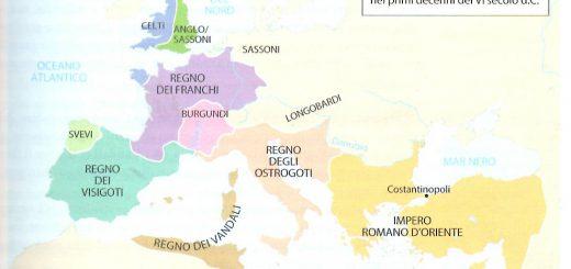 mappa regni barbarici