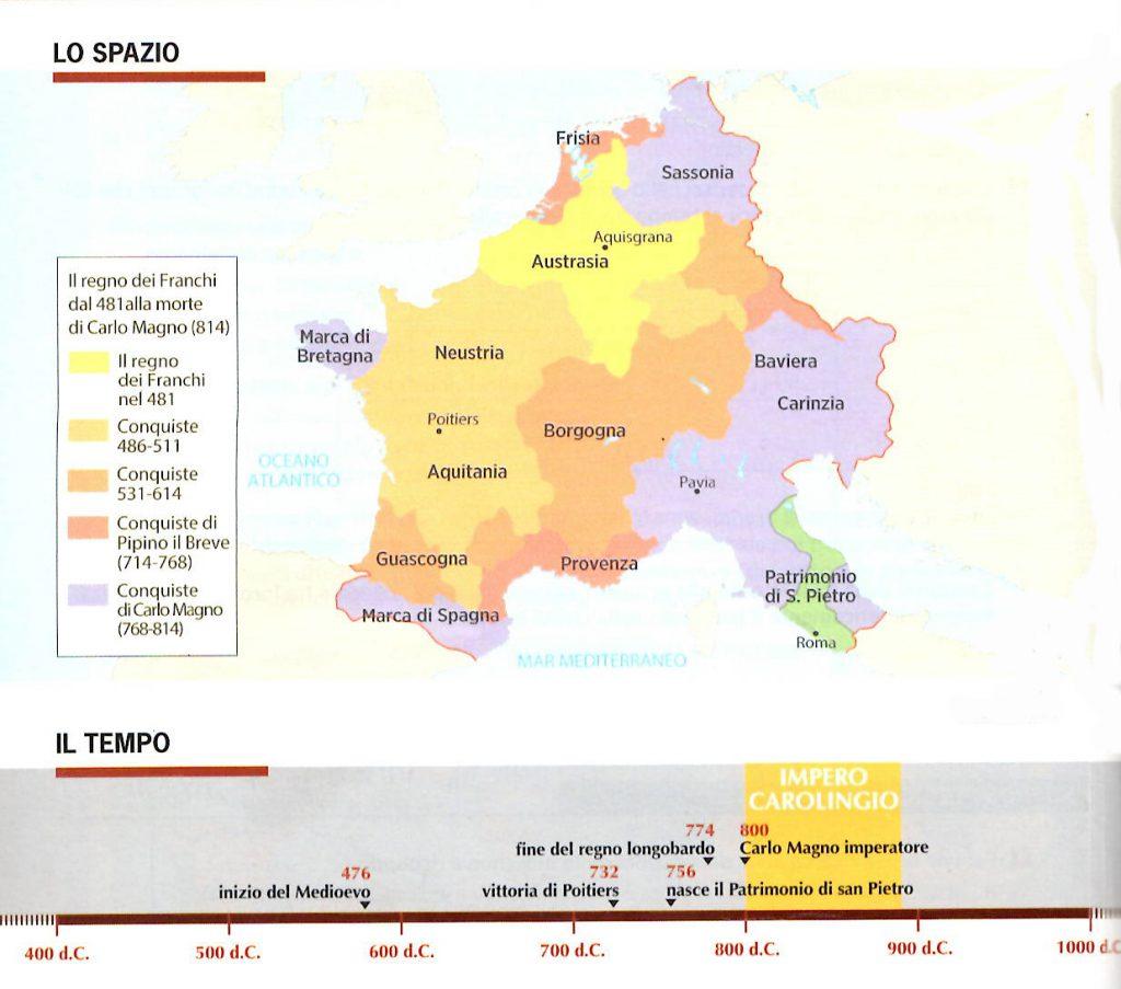 mappa regno franchi